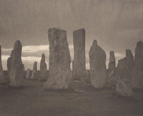 Ancient Stone, Callanish #1. Isle of Lewis, Scotland, 2013-2014. Platinum print on Gampi paper. Es. 2:9. cm 26,5x34